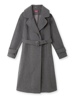 Manteau long, drap de laine 7% cachemire
