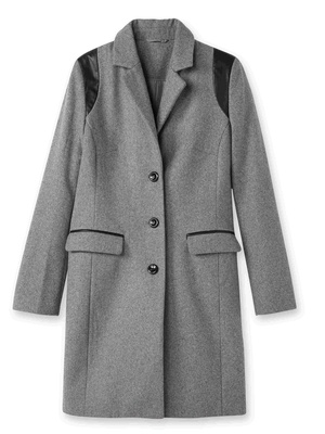 Manteau 3/4 en drap de laine