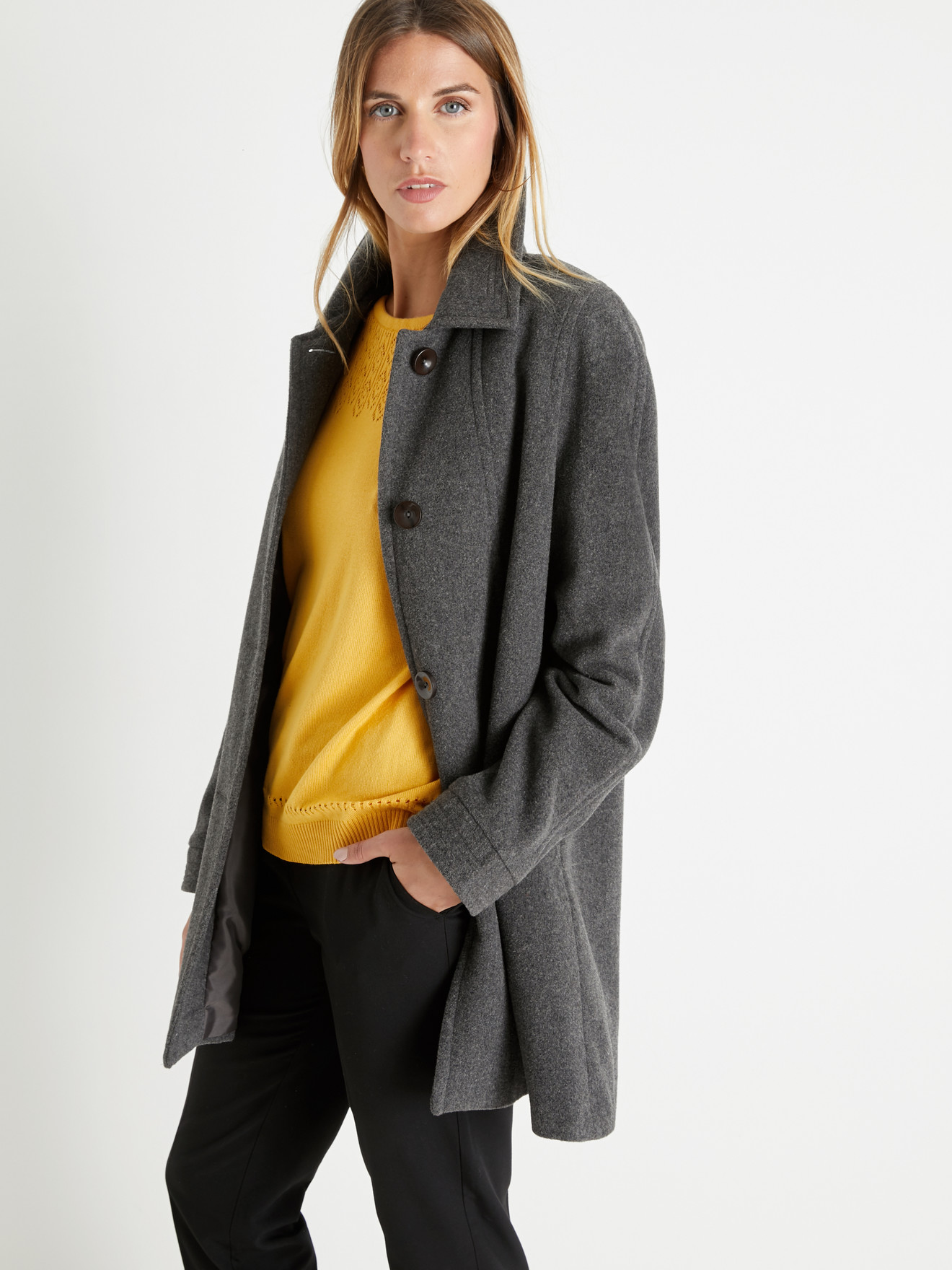 manteau en laine 3 4 femme
