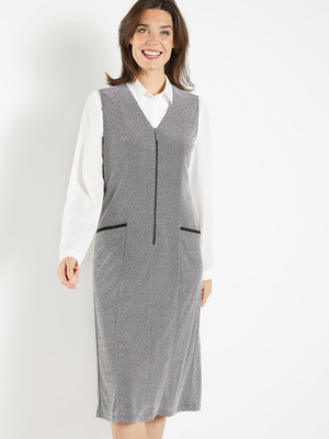 Robe-chasuble zippée