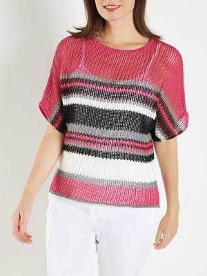 Pull en maille crochet style seventies