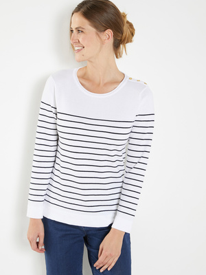 Pull marinière manches longues