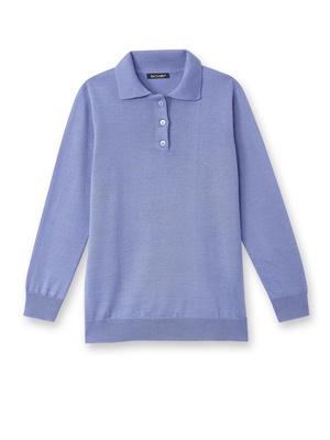 Pull style polo, 50% laine mérinos