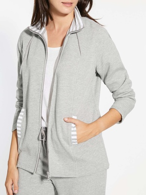 Veste zippée sportswear molleton doux