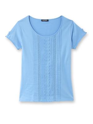 Tee-shirt macramé et broderie anglaise