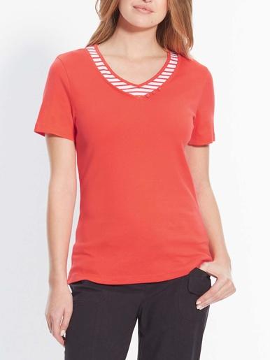 Tee-shirt style marin effet 2 en 1