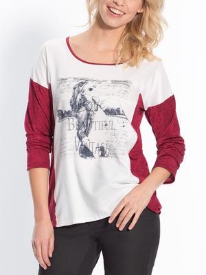 Tee-shirt bi-matière manches longues