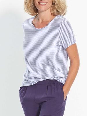 Tee-shirt rayé manches courtes
