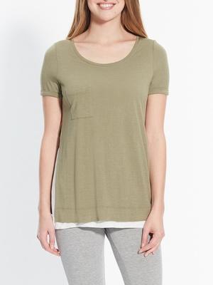 Tee-shirt bicolore effet 2 en 1