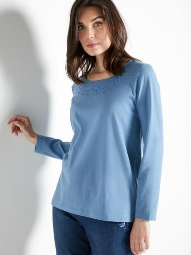 Tee-shirt col rond brodé