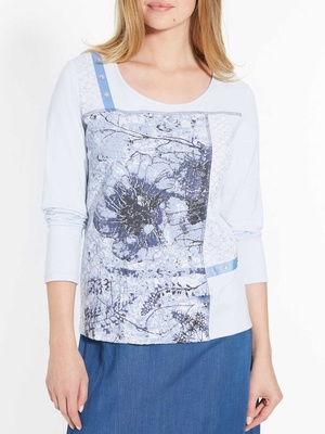 Tee-shirt avec dentelle pur coton