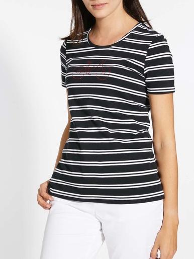 Tee-shirt fantaisie strass pur coton