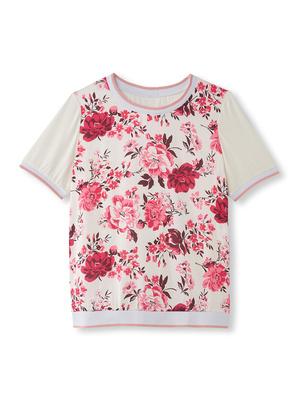 Tee-shirt bi-matière raffiné