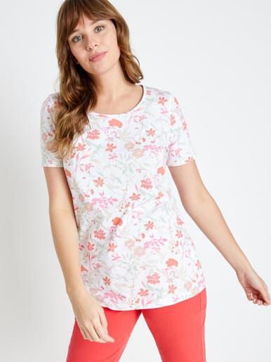 Tee-shirt tunique pur coton - Charmance - Modalova