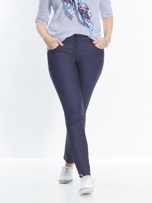 Pantalon droit enduit push-up