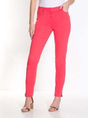 Pantalon slim bas zippé