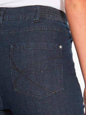 Jean denim 5 poches, stature plus d'1m60