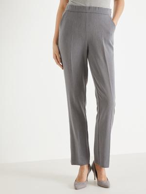 Pantalon droit, effet ventre plat