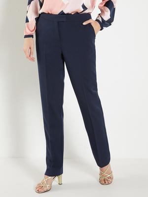 Pantalon droit en tissu sergé