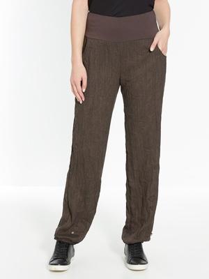 Pantalon en tissu froissé ceinture confo