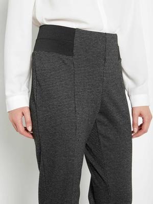 Pantalon élastiqué, effet ventre plat