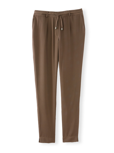 Pantalon en crêpe fluide - Charmance - Modalova