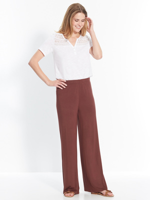 Pantalon loose maille extensible