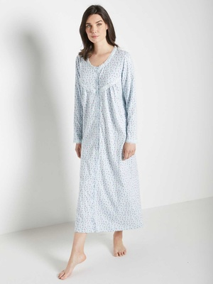 Chemise de nuit entièrement boutonnée
