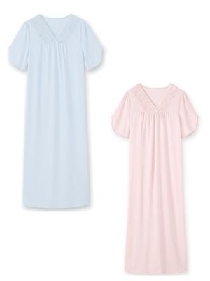 Chemises de nuit dentelle, lot de 2