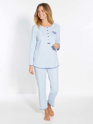 Pyjama manches longues maille bio