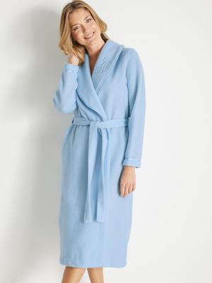Robe de chambre col châle en molleton