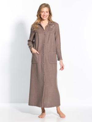 Robe de chambre col Claudine à poches