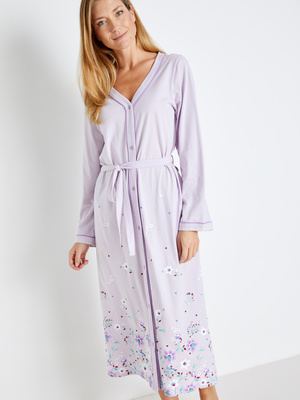 Peignoir kimono boutonné