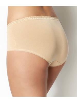 Culotte midi coton stretch, lot de 2