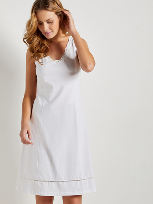 Fond de robe pur coton style romantique
