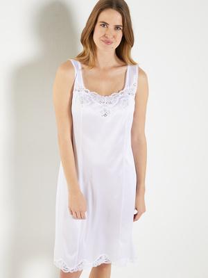 Fond de robe 105cm détails dentelle