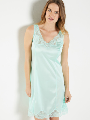 Fond de robe maille et dentelle 95cm