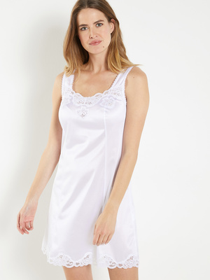Fond de robe 90cm détails dentelle