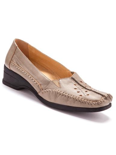 Mocassins cuir confort talon 4cm