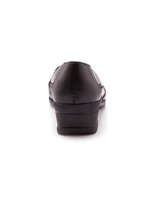 Mocassins cuir confort, talon 4cm