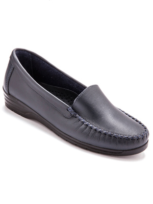 Mocassins cuir largeur confort
