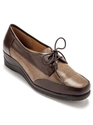 Derbies à lacets grande largeur cuir