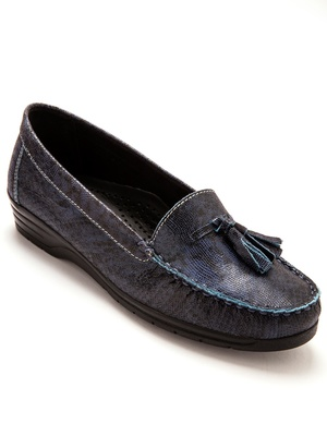Mocassins fantaisie largeur confort