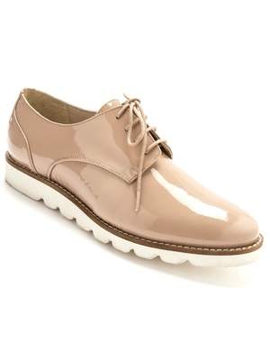 Derbies vernis en cuir