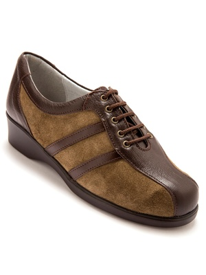 Derbies cuir ultra-légers grande largeur