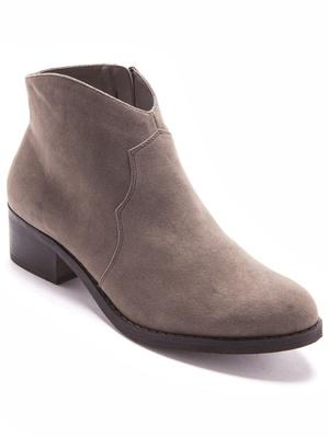 Boots zippées forme basse
