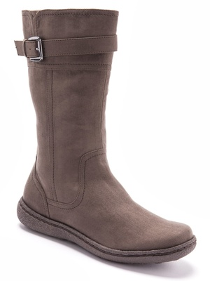 Boots hautes microfibre