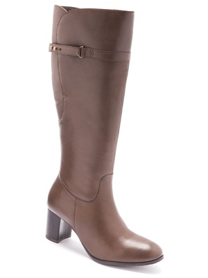 Bottes cavalières cuir largeur confort