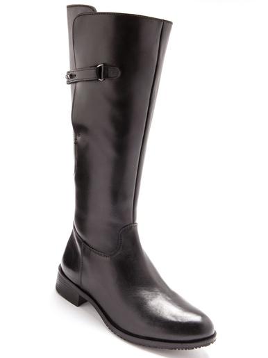 Bottes cavalières cuir, largeur confort