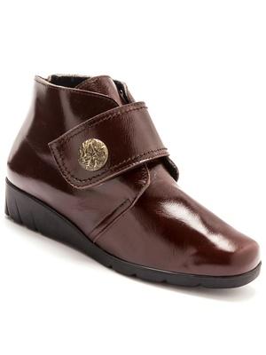 Boots cuir à ouverture totale